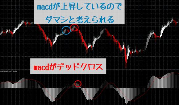 平均足:MACDとの組み合わせ